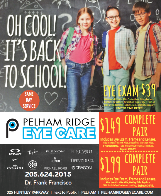 back to school eye exam special pelham al